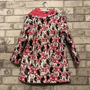 Girl's Minnie Mouse Raincoat Size 5